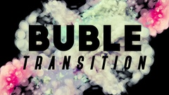3 Buble Transitions + Alpha Channel Stock Footage