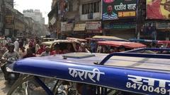 Chaos in Varanasi, India Stock Footage