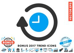 Repeat Clock Flat Icon With 2017 Bonus Trend Stock Illustration