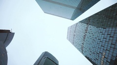 Business skyscrapers financial district Stock Footage