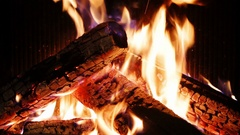 Cinemagraph logs burning in fireplace. Stock Footage