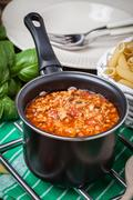 Mediterranean meal preparation. Stock Photos