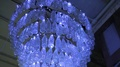 Luminous contemporary installation of glass bottles, which will go for recycling HD Footage