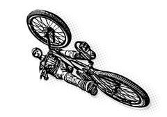 BMX biker Illustration Piirros