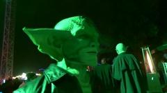 Gremlin portrait night Stock Footage
