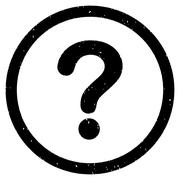 Question Icon Rubber Stamp Stock Illustration