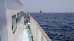 Boat in Gulf of Mexico Stock Footage