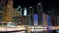 UHD 4K Dubai Marina night zoom in time lapse, United Arab Emirates 4k or 4k+ Resolution