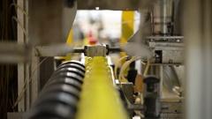 Plastic Bottles Factory Line Stock Footage