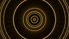 Moving gold line, black background, loop Stock Footage