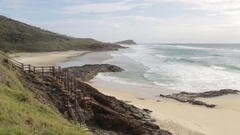 Champagne pools beach on Fraser Island Stock Footage