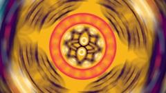 Colorful Oriental Mandalas Spinning in Loop Stock Footage