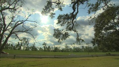 Destrehan plantation pan left to right xws Stock Footage