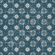 Seamless retro worn out background spiral cross flower Stock Illustration