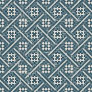 Seamless retro worn out background check geometry cross mosaic Stock Illustration
