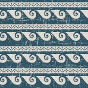 Seamless retro worn out background spiral round wave geometry Stock Illustration