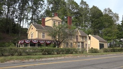 The Wayside, former home of author Louisa May Alcott, Concord, MA, USA. Stock Footage