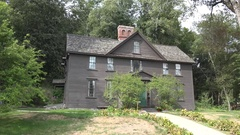 Orchard House, family home of author Louisa May Alcott, Concord, MA, USA. Stock Footage