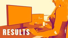 Results Concept Course Stock Illustration