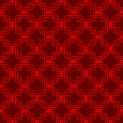 Seamless red Chinese style arranged in a crisscross square pattern. Stock Illustration