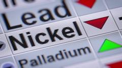 Index of Nickel. Down.  Looping. Stock Footage