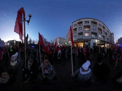 360Vr Video Saint Nicholas' Day in Opole Poland Crowd of Participants Front Row Stock Footage