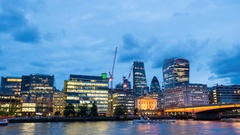 20 Fenchurch Street,St Mary Axe,Leadenhall Tower at riverside,London Stock Footage