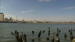 New Orleans skyline pan Stock Footage