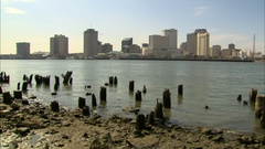 New Orleans skyline static Stock Footage