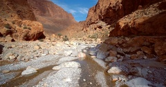 Aerial, Gorges Du Todra, Todra Gorge, Morocco Stock Footage
