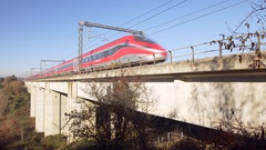 High speed trains - Italy  Stock Footage