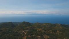 Aerial view beautiful coastline on the tropical island. Philippines Cebu island Stock Footage