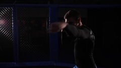 Fighter fulfills punches Stock Footage
