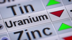 Index of Uranium. Down. Looping. Stock Footage