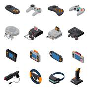 Game Gadgets Isometric Icons Collection Piirros