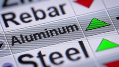 Index of Aluminum.Up. Looping. Stock Footage