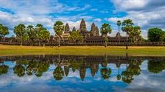 Timelapse of Angkor Wat, Siem Reap, Cambodia. Stock Footage