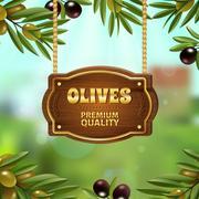 Premium Quality Olives Background Piirros
