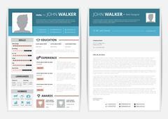 CV Web Page Illustration Stock Illustration