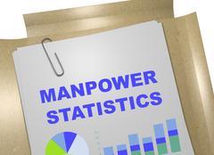 Manpower Statistics - business concept Stock Illustration