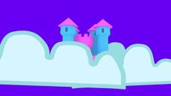 Fun fairy castle colorful fantasy Arkistovideo