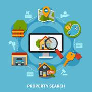 Real Estate Concept Stock Illustration