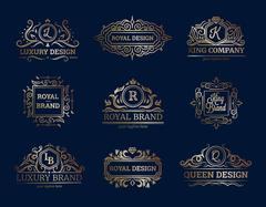 Luxury Labels Design Set Piirros