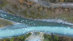 River confluence, Georgia, aerial Stock Footage