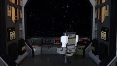 Spaceship cockpit space ship scifi science fiction Stock Footage