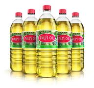 Group of plastic bottles with palm oil Stock Illustration