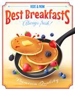 Best Breakfasts Vintage Advertisement Poster Stock Illustration