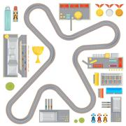 Gaming Race Track Composition Stock Illustration
