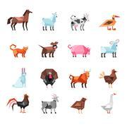 Geometric Farm Animals Set Piirros