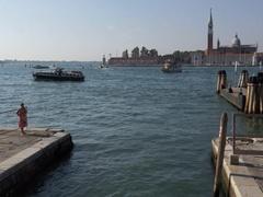 View to San Giorgio Maggiore Stock Footage
